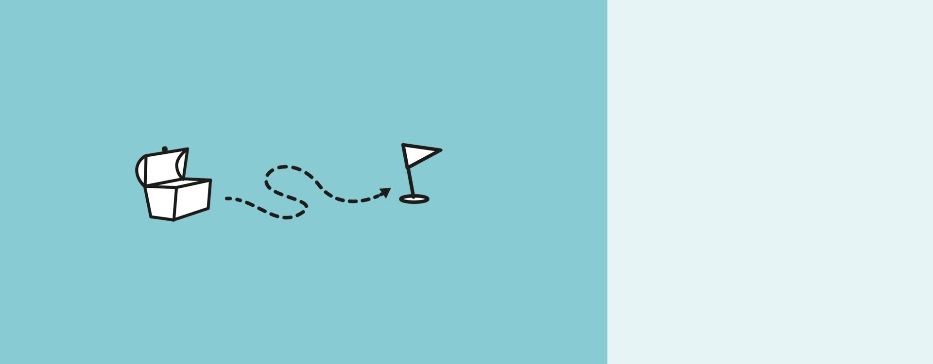 slide schatztruhe ziel illustration